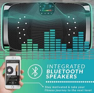 Bluefin 4D plataforma vibratoria con altavoces y bluetooth